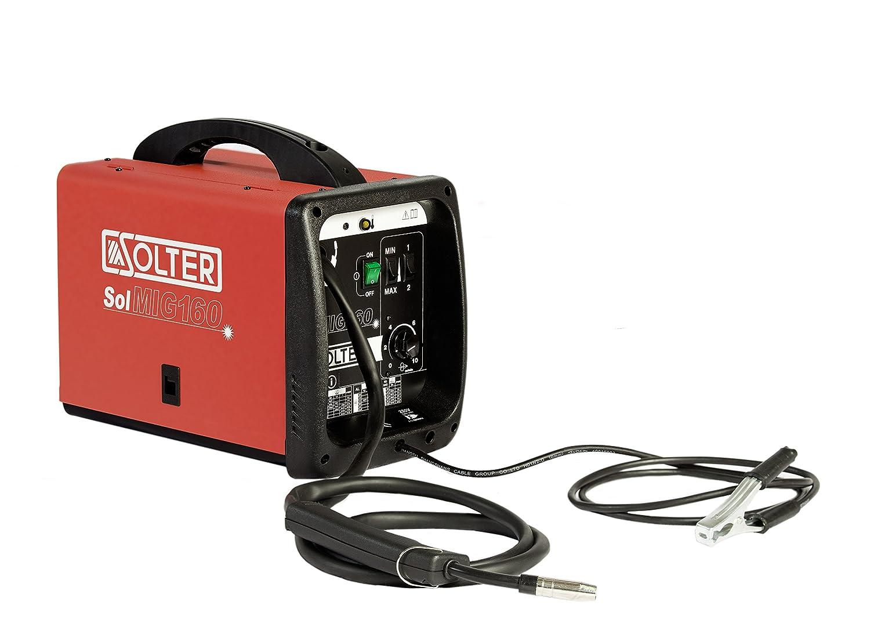 SOLTER - SOLMIG 160 - Soldadora MIG-MAG de hilo (240 V) Potencia 150A, Gas y No Gas, 22Kg: Amazon.es: Industria, empresas y ciencia