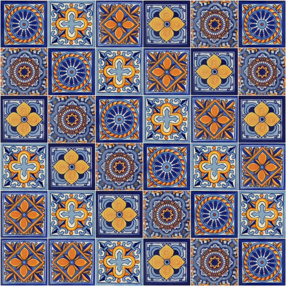 100 Mexican Tile Mix 4x4 Color y Tradicion