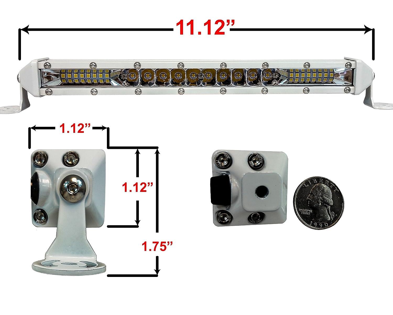 10 inch, White OZ-USA M-Series Ultra Slim High Output Osram LED Mini light bar