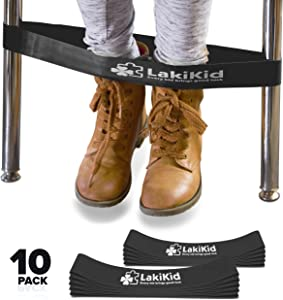 Chair Bands for Kids with Fidgety Feet: LAKIKID Flexible Seating Classroom Furniture Series - Improve Focus & Attention - Perfect Foot Fidgets for Classroom Chair, Special Education Supplies(10 Packs)