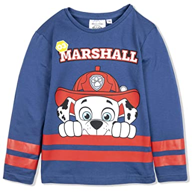 Boys' Clothing (2-16 Years) Paw Patrol Boys Long Sleeve Tops 100% Cotton T-shirts Marshall Rubble 2-6 Yrs