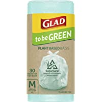 Glad to be Green Plant Based Bin Liner Bag, Medium 27 Litre, 30 Pack