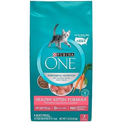 Amazon Purina One Healthy Kitten Formula Dry Food 7 Lbs