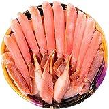 黒帯 北海道 ギフト 生 ズワイガニ ポーション 1.0kg 天然 特大 生 ずわい蟹 かに むき身 良品選別済