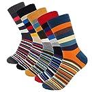 Mens Crew Dress Cotton Socks 5 Color Pack Hoyols