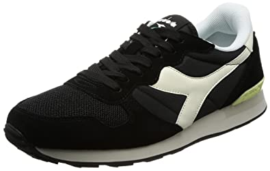 Diadora 159886-C2609: Camaro Black/Whisper White Mens Sport Sneakers  Nylon/Suede