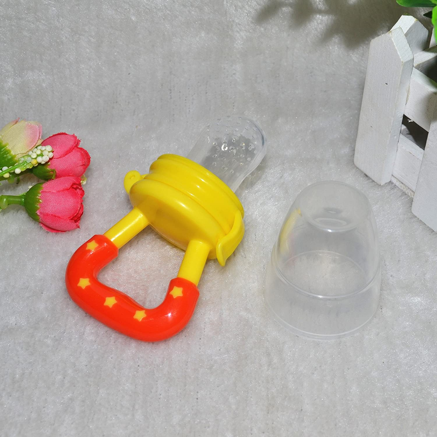 14a841843 Amazon.com   Baby Food Feeder Silicone Dummies Pacifier Soother ...