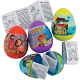 Bible Story Pre-Filed Easter Eggs (set of 12) Religious Easter Supplies for Sunday School