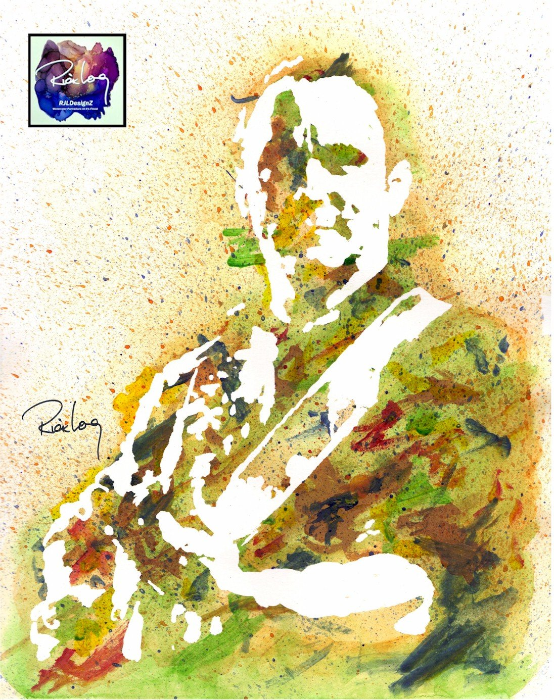 HAND DRAWN Original Artist 8 x 10 Watercolor PRINT Tripping Billies featuring DAVE MATTHEWS. UNFRAMED LIMITED EDITION Available in 8X10 and 20×30 Prints