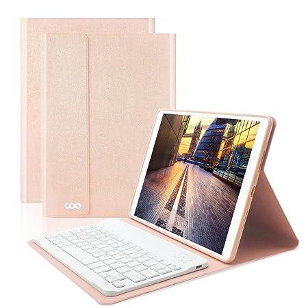 COO iPad Hülle Tastatur QWERTZ für 9,7 Zoll iPad 2018/2017, iPad Pro 9.7, iPad Air 2/1, iPad Bluetooth Keyboard Case mit Muli