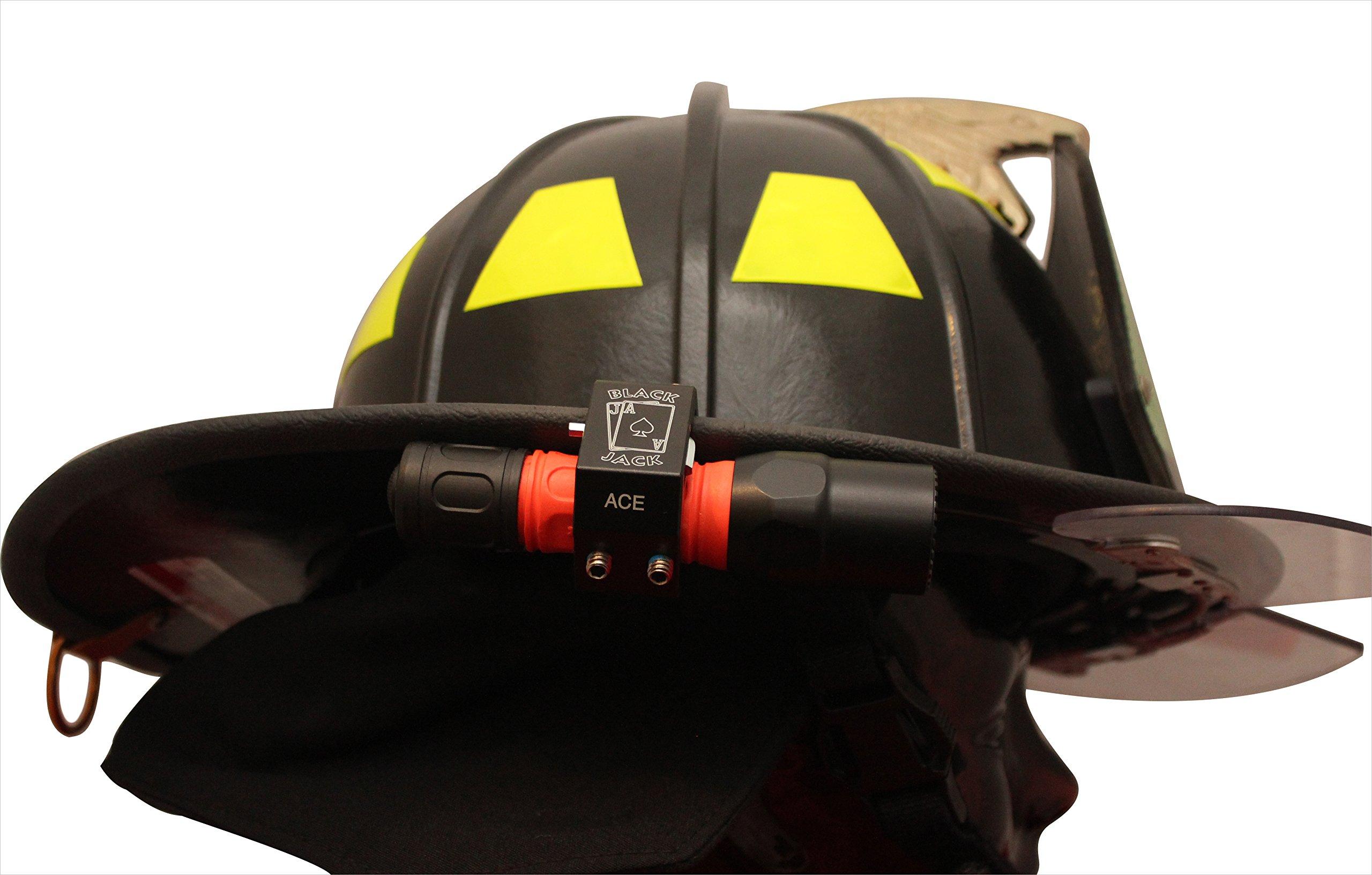 Blackjack ACE Firefighter Helmet Aluminum Flashlight Holder by Blackjack Fire & Safety (Image #3)