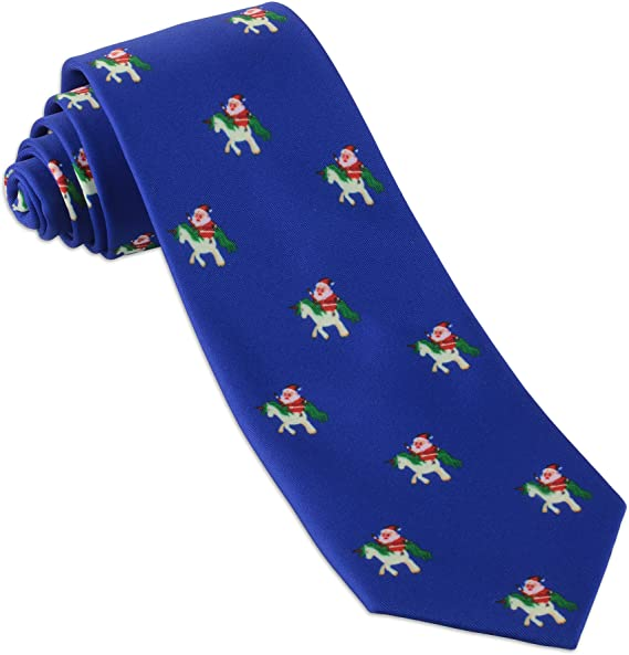 KESYOO 2Pcs Christmas Neck Tie Novelty Necktie Holiday Pattern Necktie for Men Gifts Christmas Party Supplies Color 1