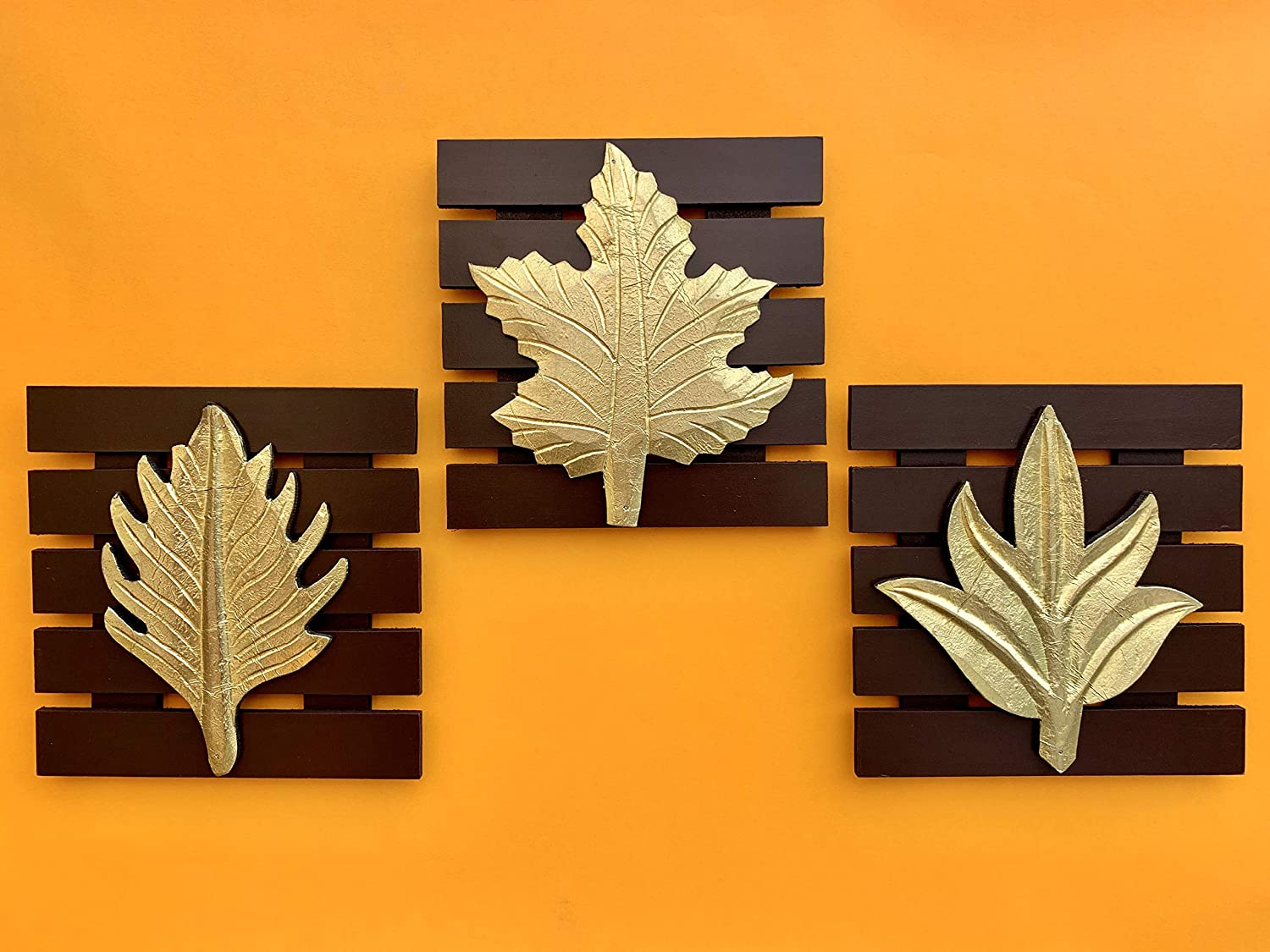 Maple Craft Wood Brass Wall Art