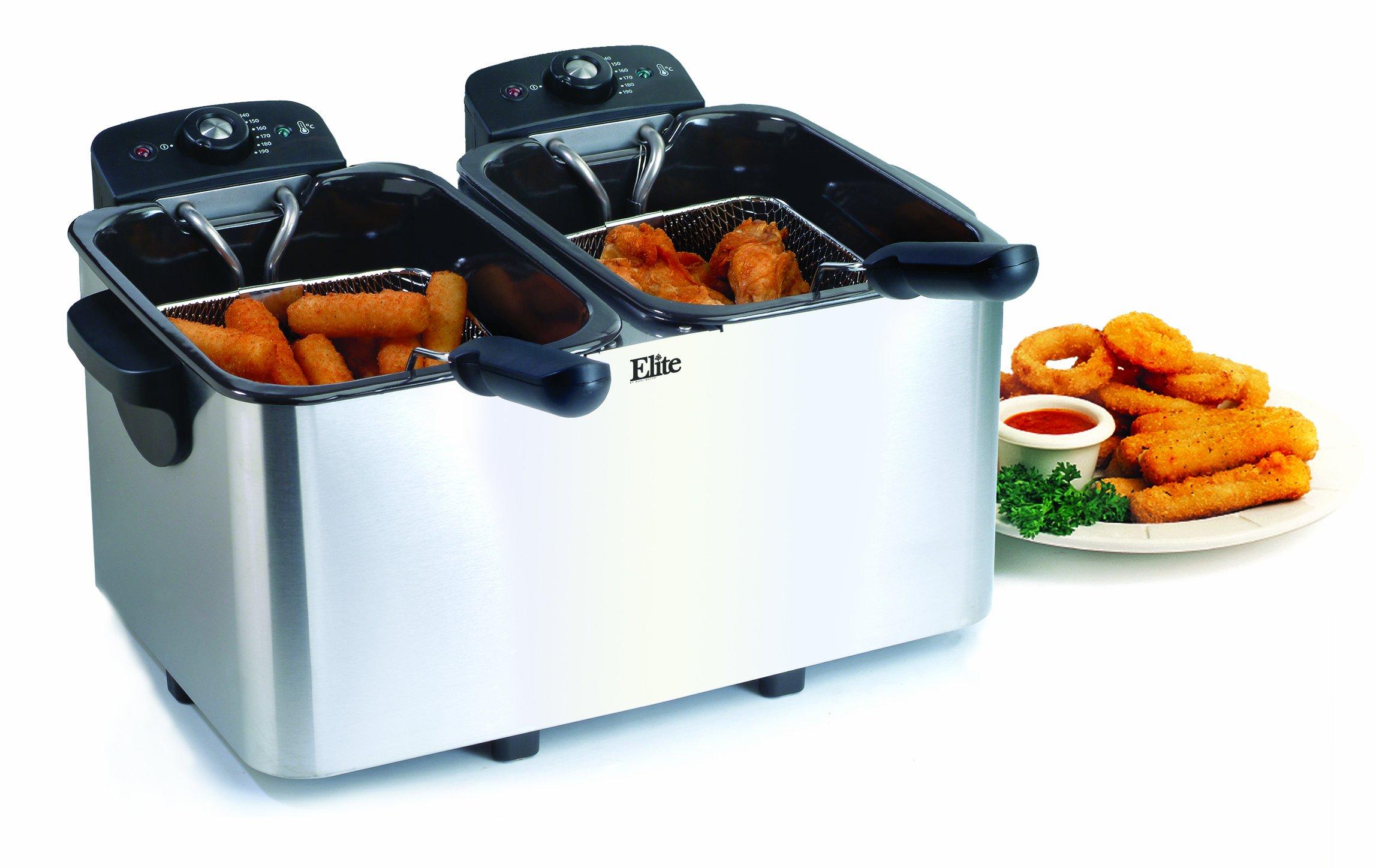 Elite Platinum EDF-3060 Maxi-Matic 6 Quart Deep Fryer, Stainless Steel