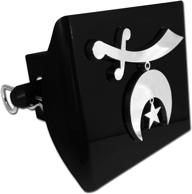 Elektroplate Shriner Crescent and Scimitar Black All Metal Hitch Cover