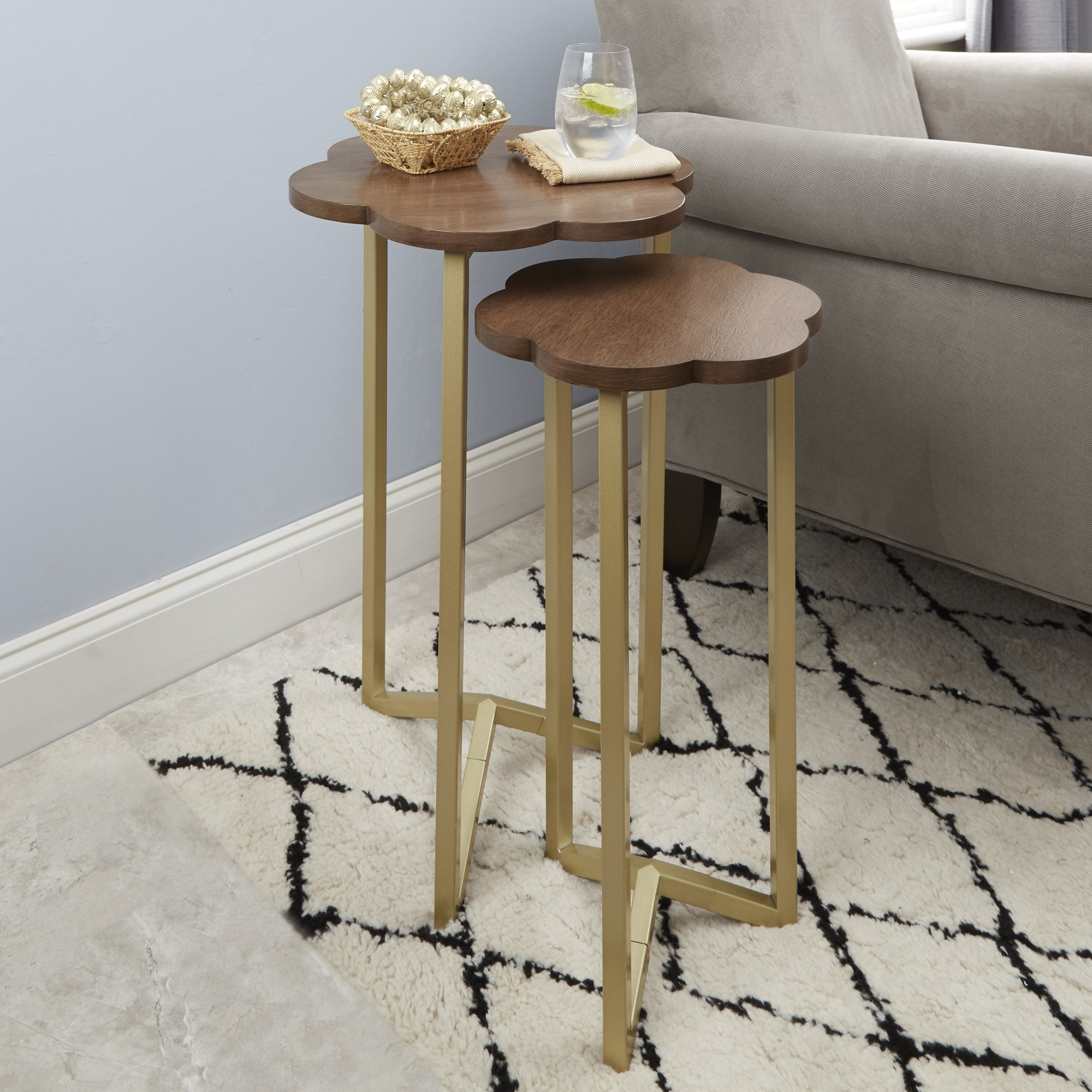 Silverwood FT1263-GLD-RGR Daphne Nesting Accent Tables (2pc), 17'' DIA x 27'' H by Silverwood (Image #4)