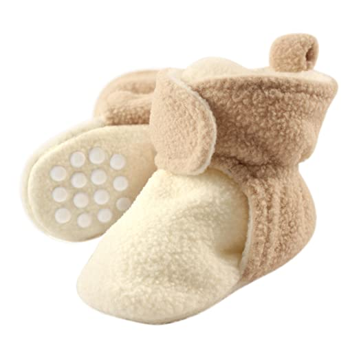 d81d17100da Luvable Friends Baby Cozy Fleece Booties with Non Skid Bottom
