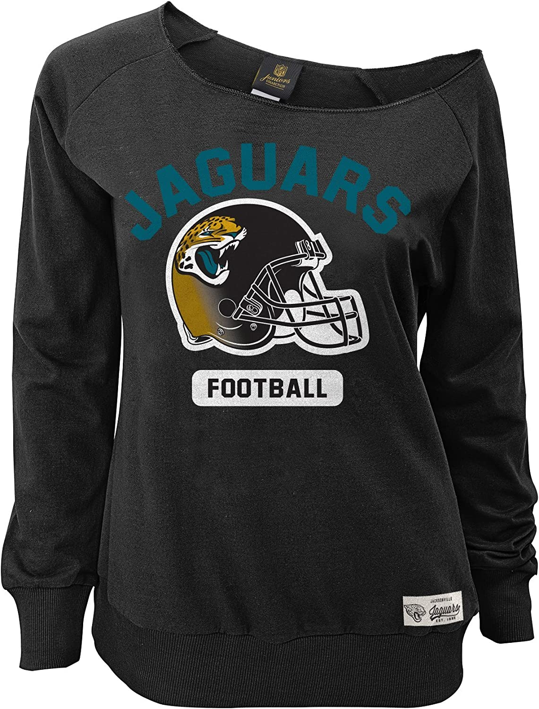NFL by Outerstuff NFL womens Nfl Junior Girls Wide Receiver Long Sleeve Boat Neck Sweatshirt
