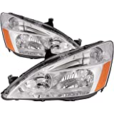 Headlights Depot Replacement for Honda Accord Sedan/Coupe Headlights Headlamps Driver/Passenger Pair New
