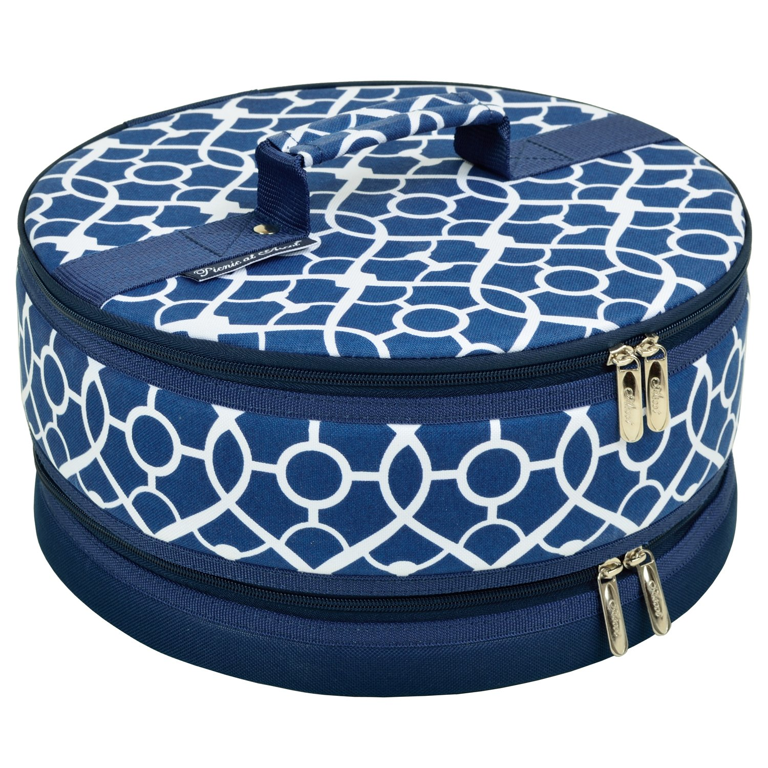 Picnic at Ascot Cake Carrier, Trellis Blue