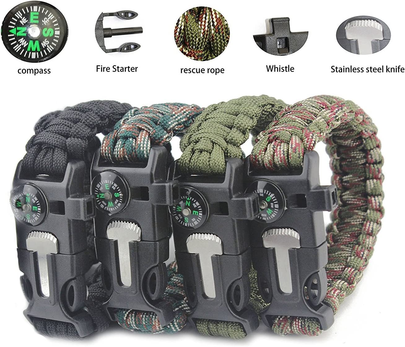 Aimic Emergency Paracord Bracelets