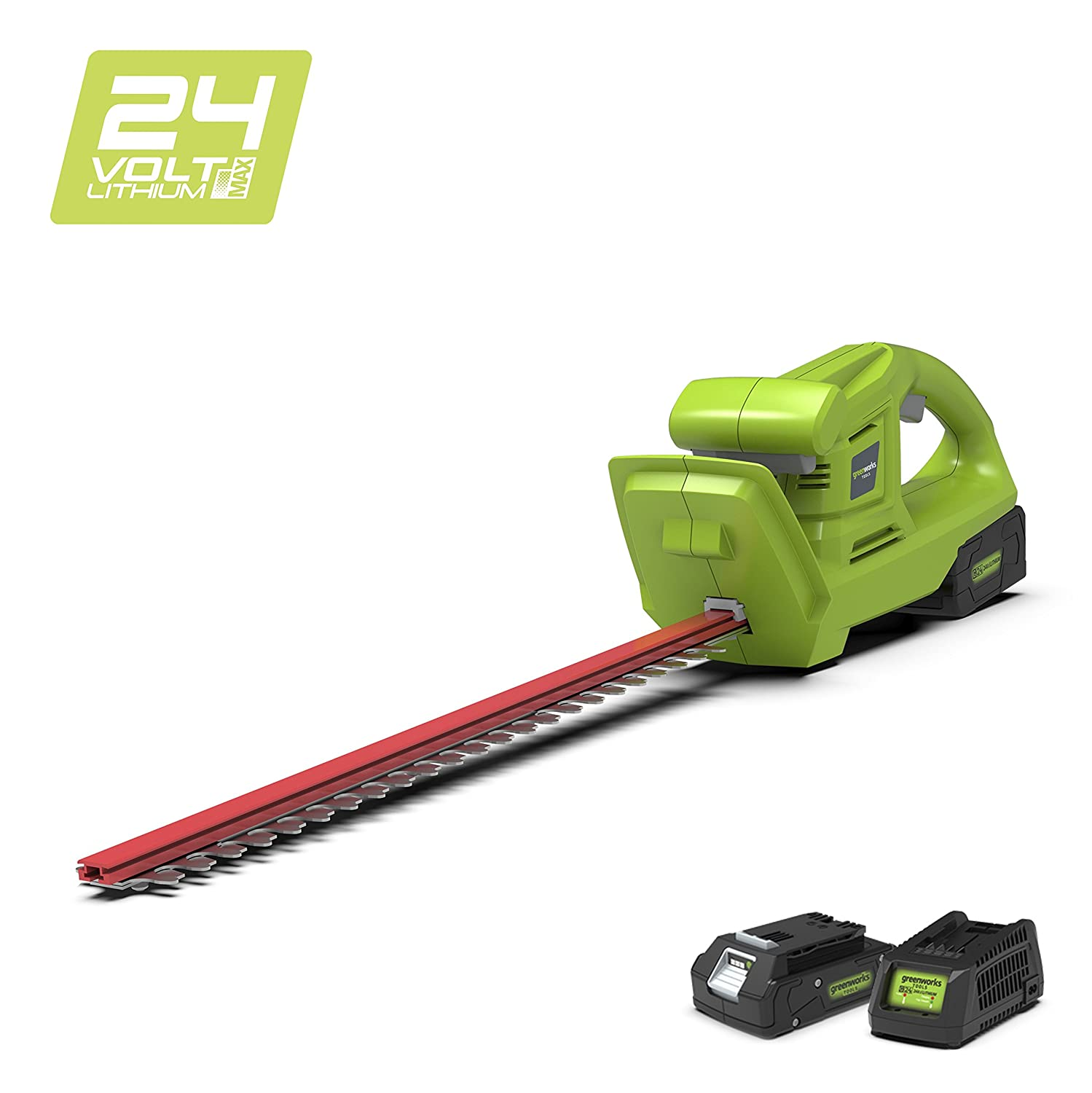 Greenworks 24V Cordless Hedge Trimmer (OPP) - Battery and charger not included - 2201207 Greenworks Tools