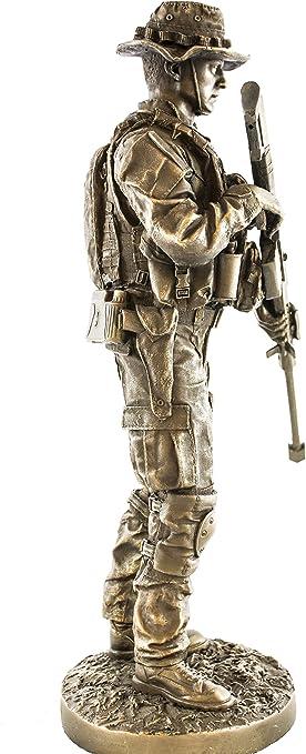Amazon Com Ytc Sniper 13 Bronzed Resin Military Statue 8088 Modern Era Sniper 50 Cal Barrett M82 Home Kitchen
