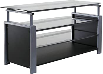 OneSpace 50-HDTV2 Basics Tv Stand with Steel Frame and Tempered Glass