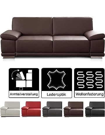 Fesselnd CAVADORE 2,5 Sitzer Sofa Corianne In Kunstleder / Kleines Sofa In  Hochwertigem Kunstleder