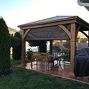 Amazon Com Gazebo With Aluminum Roof By Yardistry Cedar