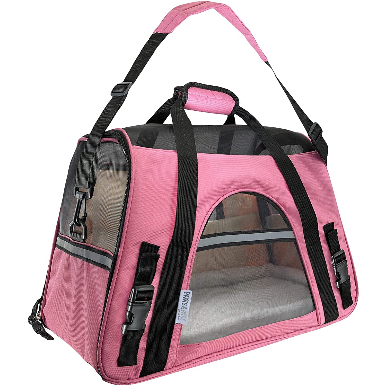 pink Wine Large pink Wine Large OxGord Airline Approved Pet Carriers w  Fleece Bed For Dog & Cat Large, Soft Sided Kennel 2016 Newly Designed Model, pink Wine