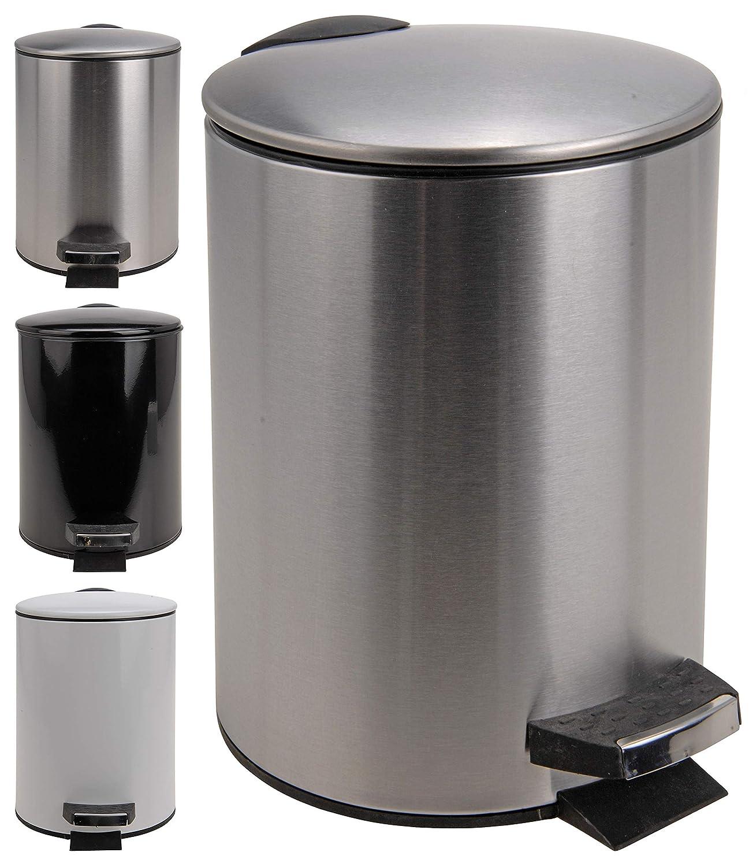 hibuy Cosmetic Bin 3L Bathroom Bucket Rust-Proof Various Designs White