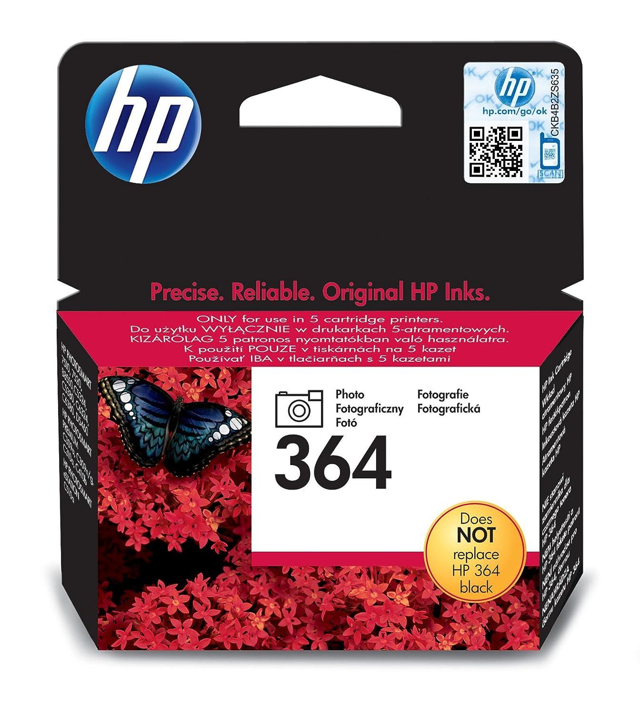 HP 364 Photo Original Ink Cartridge - Cartucho de Tinta para impresoras (Foto Negro, Negro, Estándar, 5-80%, -40-70 °C, 5-50 °C)
