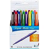 Paper Mate 70644 Point Guard Flair Porous Point Stick Pen, Assorted Colors, Medium, 16-Count