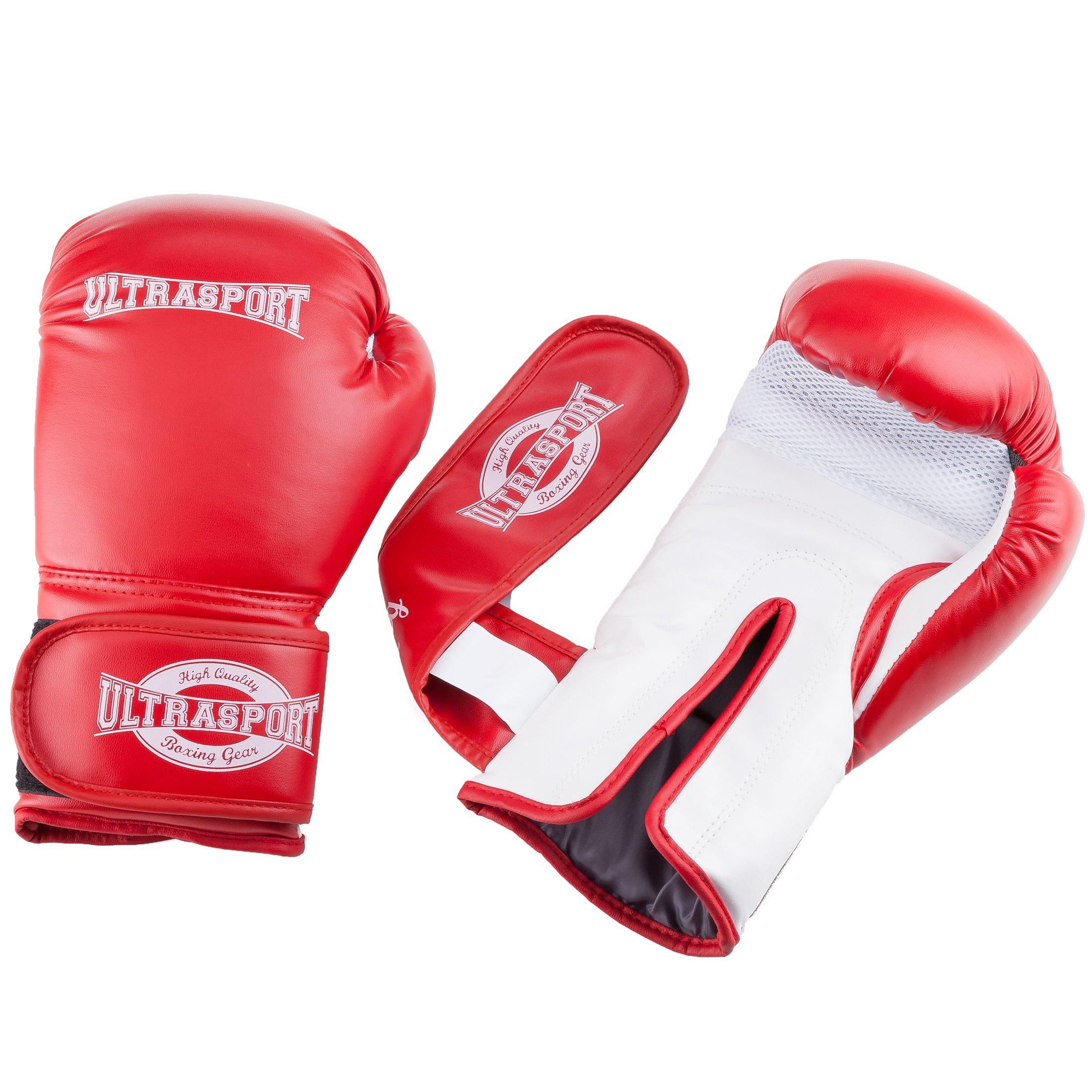 Serie Boxing Gear Ultrasport curvadas Set de Dos Manoplas Palma Acolchada con Punto Rojo
