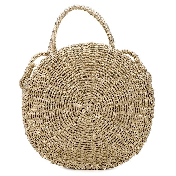 UNYU Bolso Straw Bag hombro mujer Crossbody Amazon para es al nOnZT6