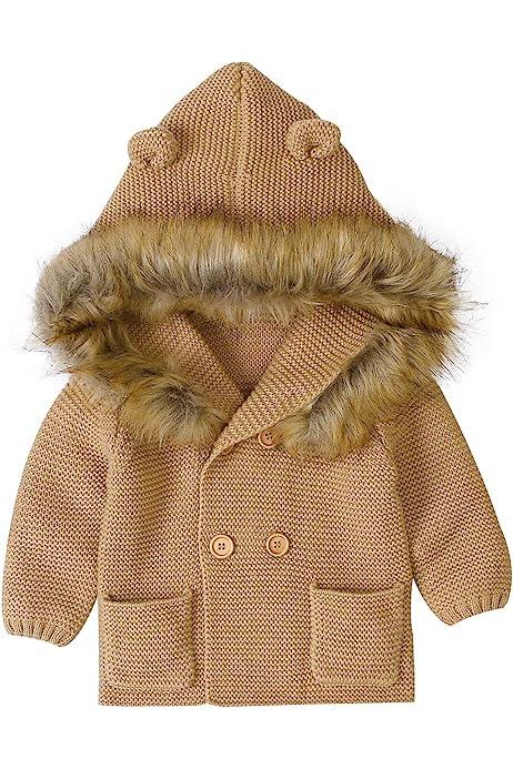 Ziyunlong Classic Baby Knit Sweater Infant Boys Girls Cardigan Autumn Winter Jacket