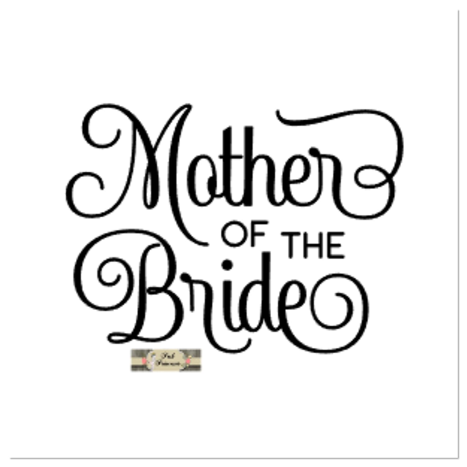 09c0b6ac202 Amazon.com: Wedding Decals, Bridal Decals, Mother Of The Bride Car Window  Decal, Yeti Decal, Laptop Sticker, Any Color 4