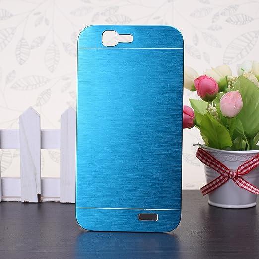 49 opinioni per Huawei G7 Custodia, Wkae® lusso spazzolato copertura d'acciaio posteriore del