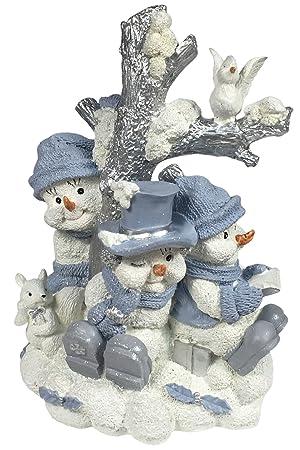 Encore Group Snow Buddies Around the Tree Snowmen Collectible Figurine 94105 7.5 Tall