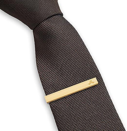 LEAPCOVER Wood Skinny Tie Bar Clip - Pin único de la corbata ...