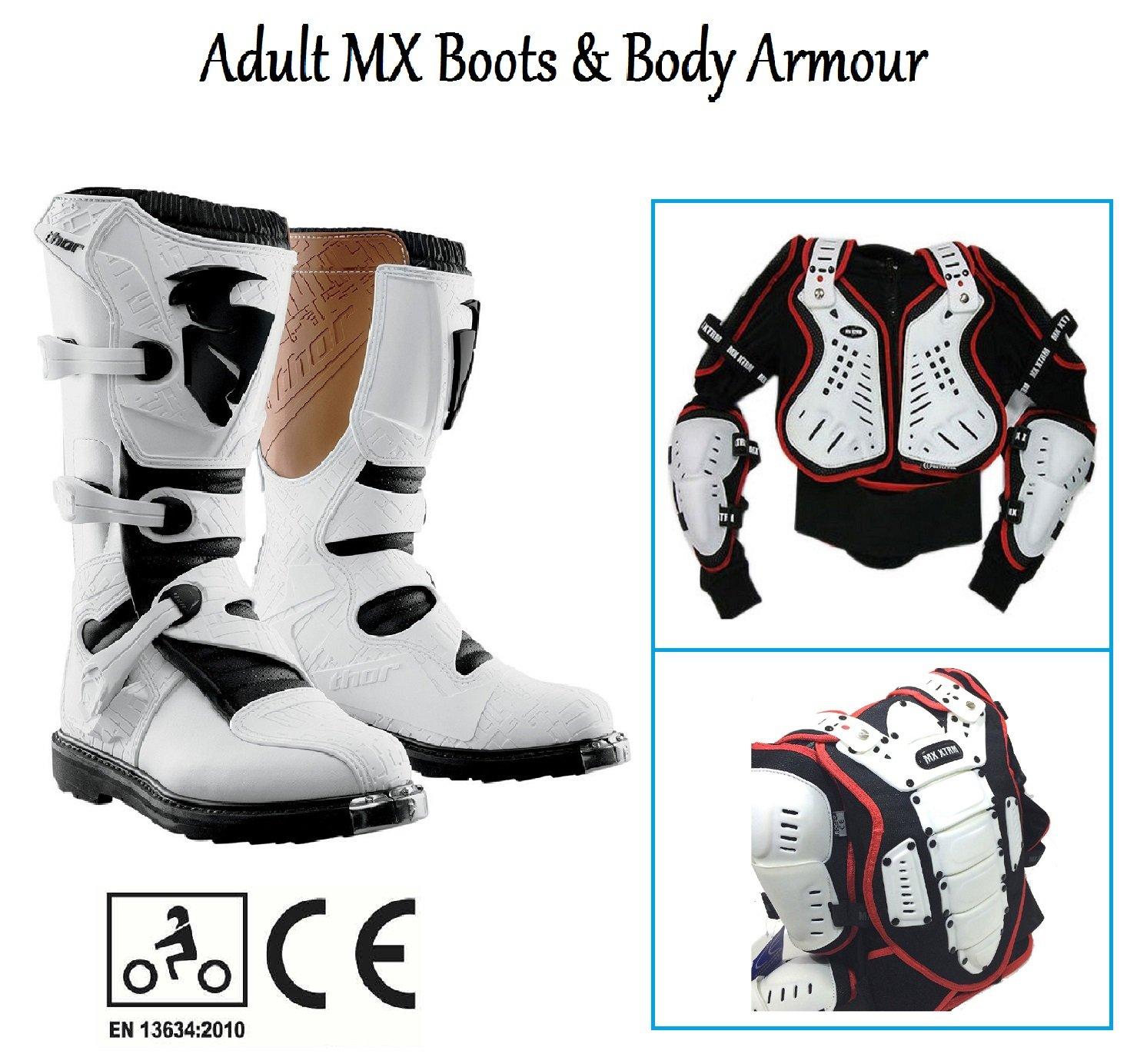 UK 7//EU 41 TRACK TECH RST EVO CE 2101 Motorcycle Black Boots Enduro MX Quad Trail Bike ATV MTB Safety Shoes