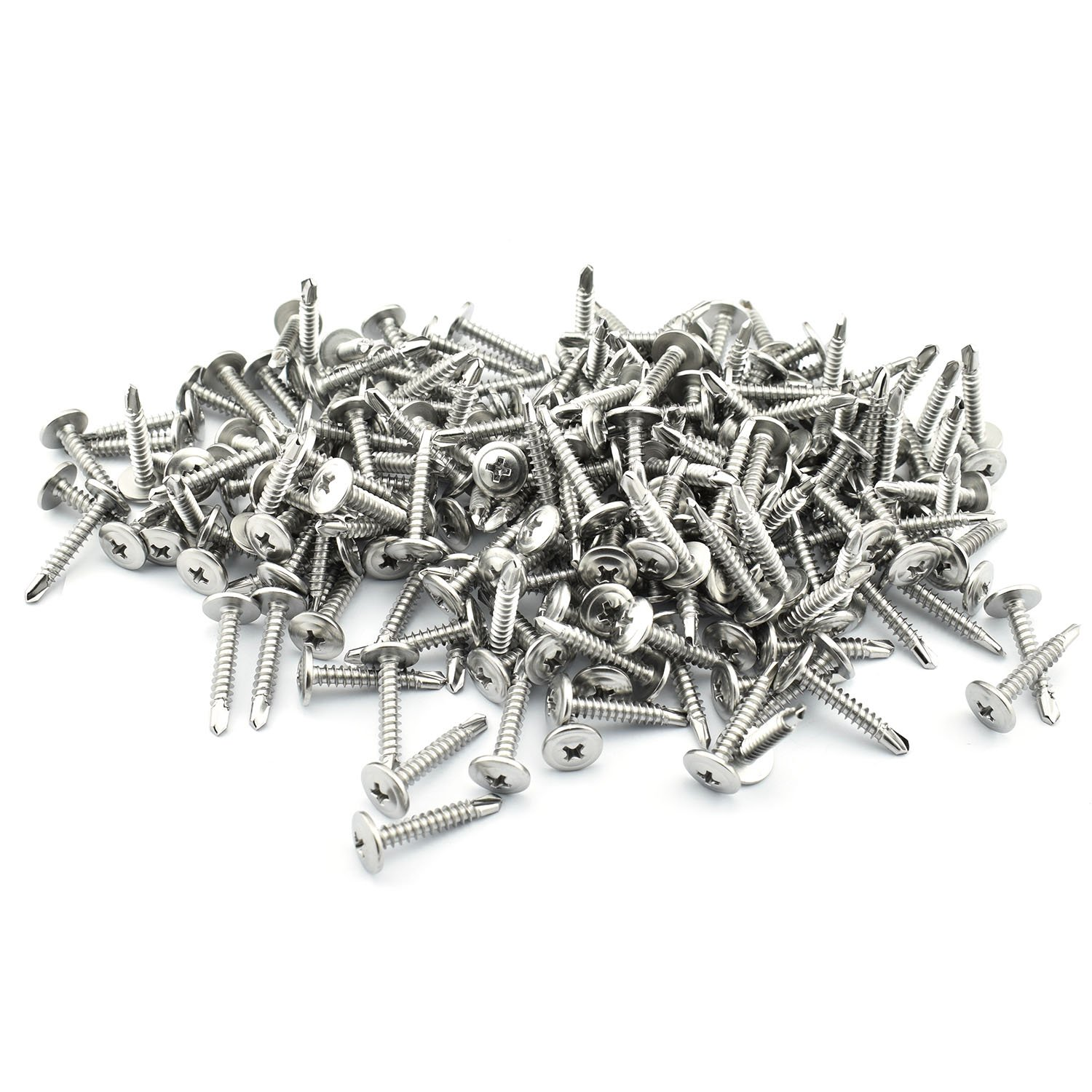 200 Pack Self-Drilling Dovetail Screws 410 Stainless Steel #10 3//4 Inches Truss Head Phillips Drive Drill Point Tek Screws
