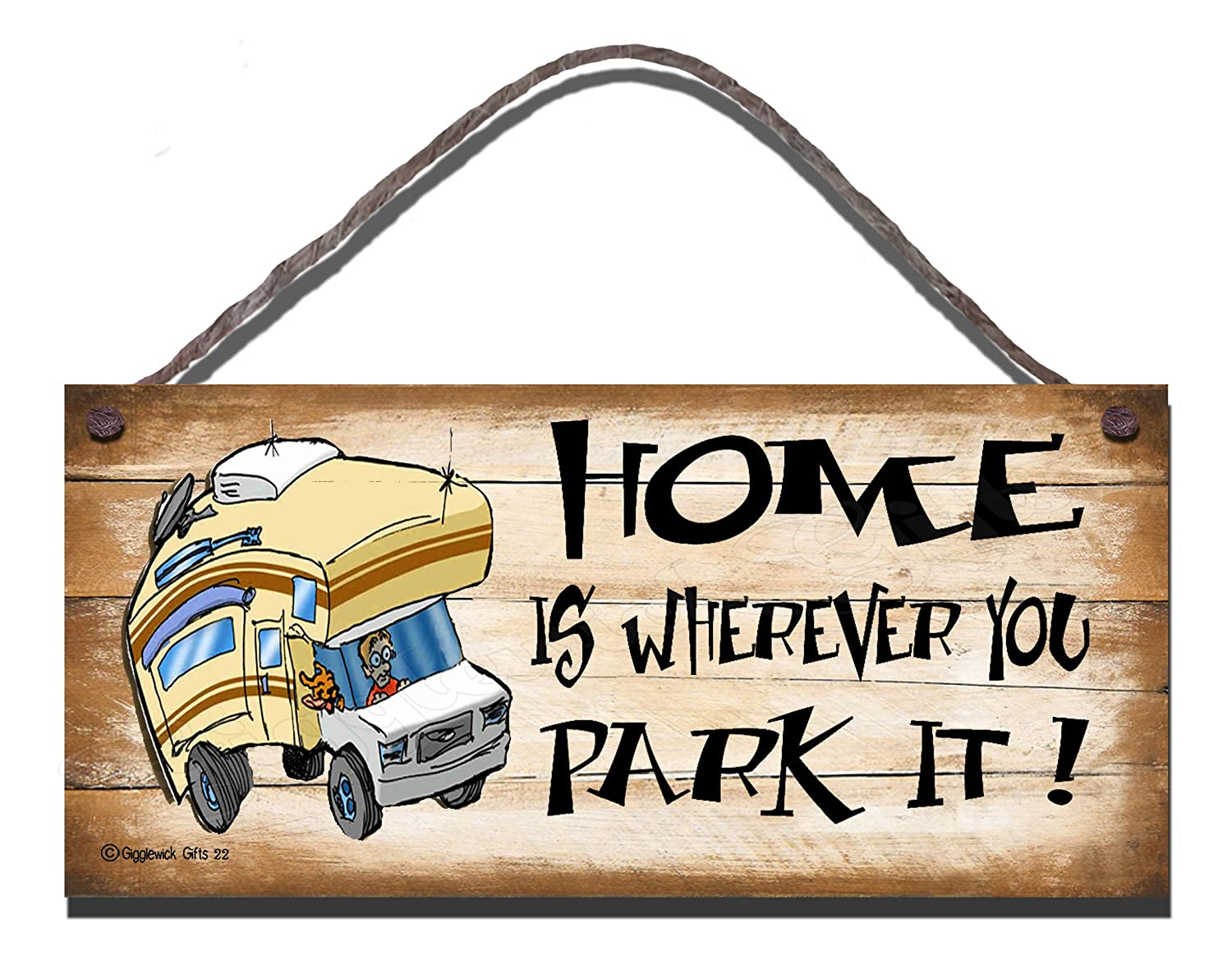 Birthday Occasion Shabby Chic Wooden Funny Sign Wall Plaque Home Is Wherever You Park It 22
