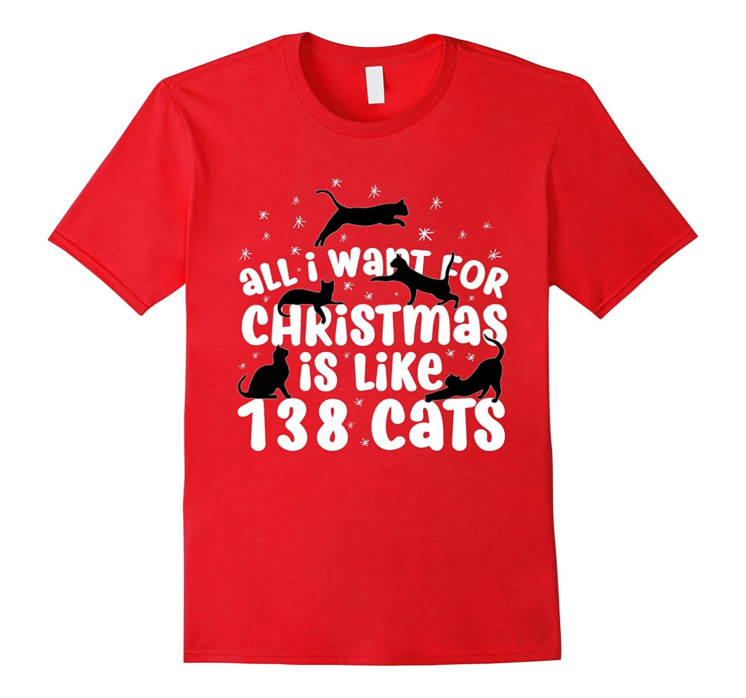 138 Cats Christmas Cat Holiday Tee Shirts | Funny T-Shirt-ANZ