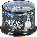 三菱ケミカルメディア Verbatim 音楽用 CD-R MUR80FP50SV2  (48倍速/50枚)