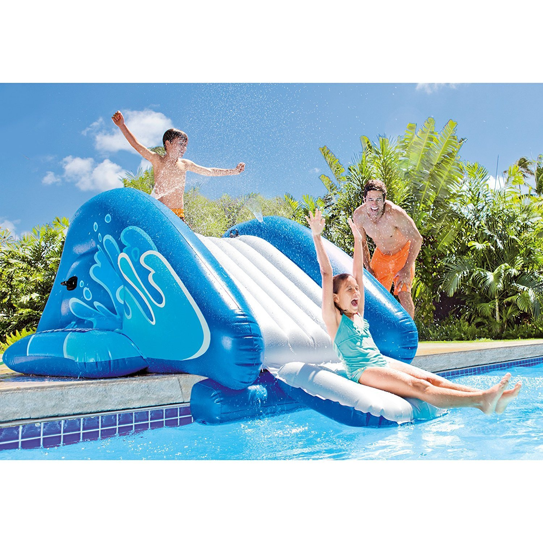 New Shop INTEX Kool Splash Inflatable Swimming Pool Water Slide + Quick Fill Air Pump by Intex (Image #2)
