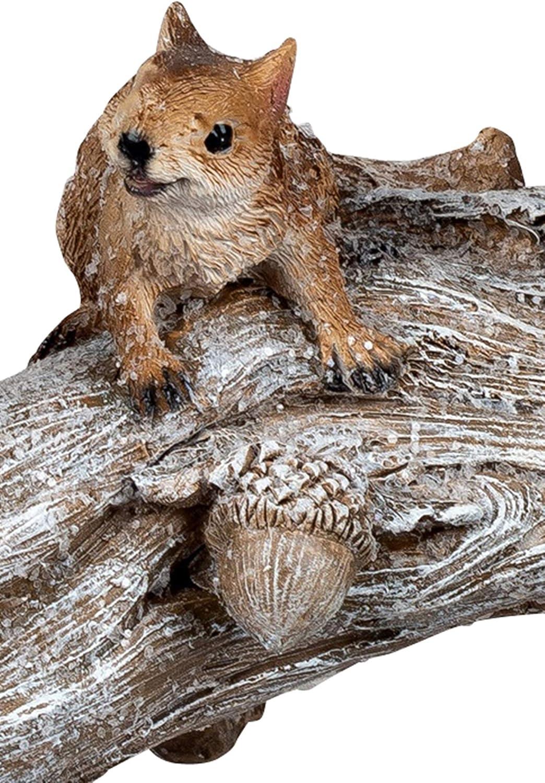 dekojohnson Figurine d/écorative /écureuil famille Chatons animaux D/écoration dautomne D/écoration dhiver D/écoration de jardin Marron 30 cm Figurines de for/êt