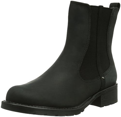 Circulo Represalias tímido  Buy Clarks Men?s Orinoco Hot Slip On Ankle Boots Black (Black WLined Lea)  7.5 UK at Amazon.in