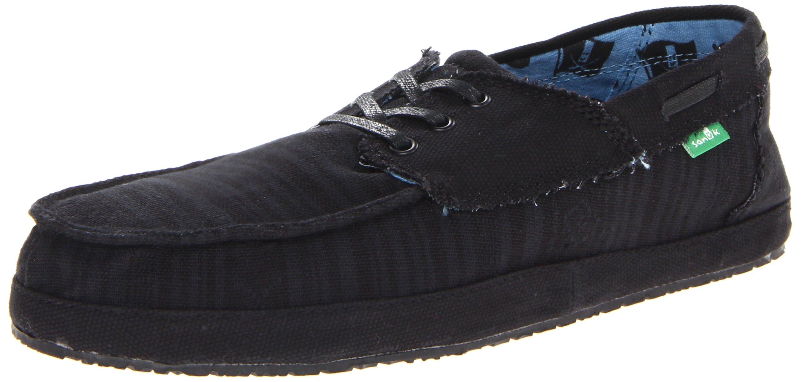 Sanuk Men's Docksteady SWS Boat Shoe,Black,12 M US